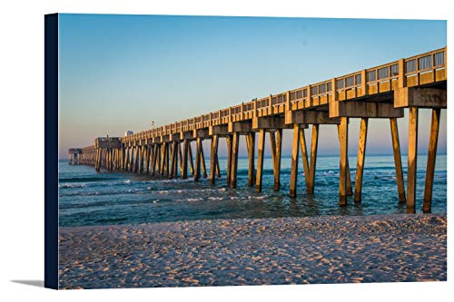 Panama City Beach, Florida - Pier - Photography A-93414 (18x12 Gallery Wrapped Stretched ()