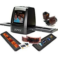 zonoz FS-ONE 22MP Ultra High-Resolution 35mm Negative Film & Slide Converter Scanner w/ 2.4 TFT LCD - No Computer or Software Required - TV Out Cable Included & Worldwide Voltage 110V/240V AC Adapter