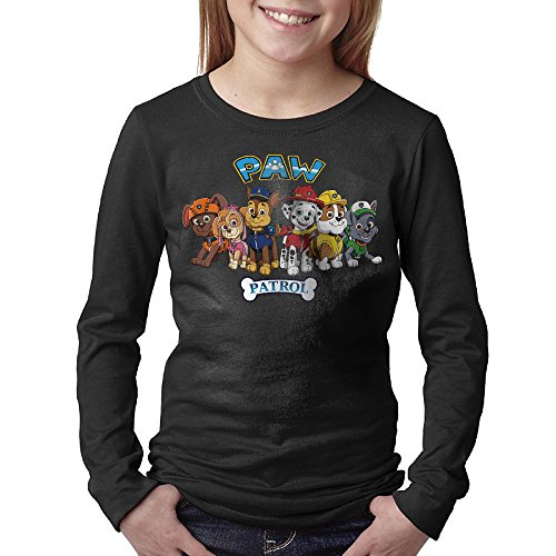 Youths Paw Patrol Animated Series Six Rescue Dogs Long Sleeve T Shirts Medium