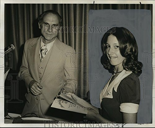 Vintage Photos 1975 Press Photo Miss Deborah Ann Bourque, Recipient of Lewis Memorial Award