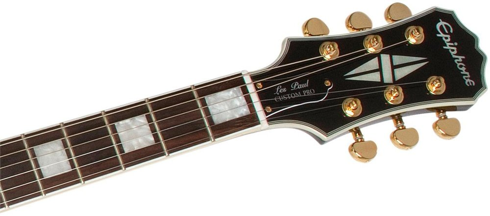 Epiphone Les Paul Custom Blackback Pro - Guitarra eléctrica, color beige: Amazon.es: Instrumentos musicales