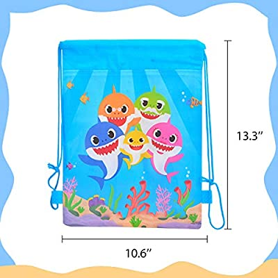 Shark Party Favors Bags Supplies for Boys and Girls 10 Pack Cute Goodie