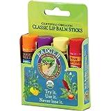 Classic Lip Balm -(Tangering Breeze, Lavender & Orange, Vanilla Madagascar, Pink grapefruit) 4Pk box