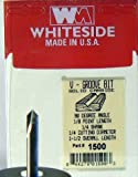 Whiteside Router Bits 1500 V-Groove Bit with 90-Degree 1/4-Inch Cutting Diameter and 1/8-Inch Point Length