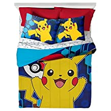 Pikachu Comforter (Full) Yellow & Blue - Pokemon