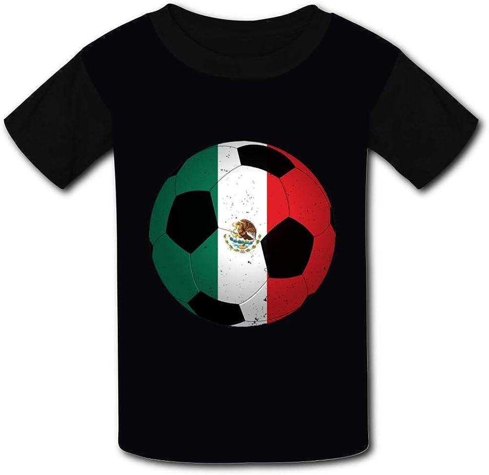 T-Shirt Soccer Mexico Flag 3D Print Short Sleeve Top Tees for Boys Girls Funny Novelty
