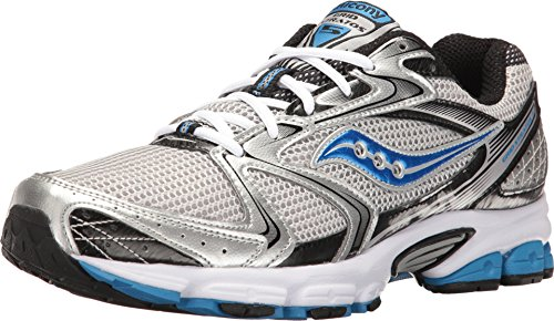 Saucony Men's Grid Stratos 5 Silver/Black/Royal Athletic Shoe