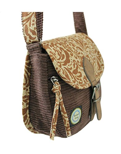 Canvas Women's Anekaant Assorted and Whimsical Chocolate Sling Corduroy Bag Printed dBxX6rqxw