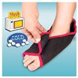 Instant Foot Relief Hot/Cold Foot Wrap For Aches,Pains, Sprains, Bruises, and Improved Blood Circulation (1 Pair)