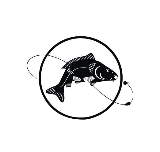Mrlwy Fish Line Bait Pesca Pegatinas de Pared Círculo Hollow Out ...
