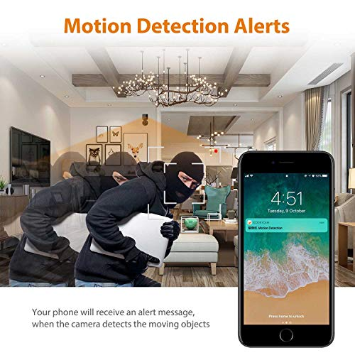 Mini Spy Camera WiFi, Jayol 1080P Spy Hidden Camera Upgraded Night Vision and Motion Detection Spy Cam, Portable Nanny Cam for Home/Office Security and Outdoor ( With Cell Phone App)