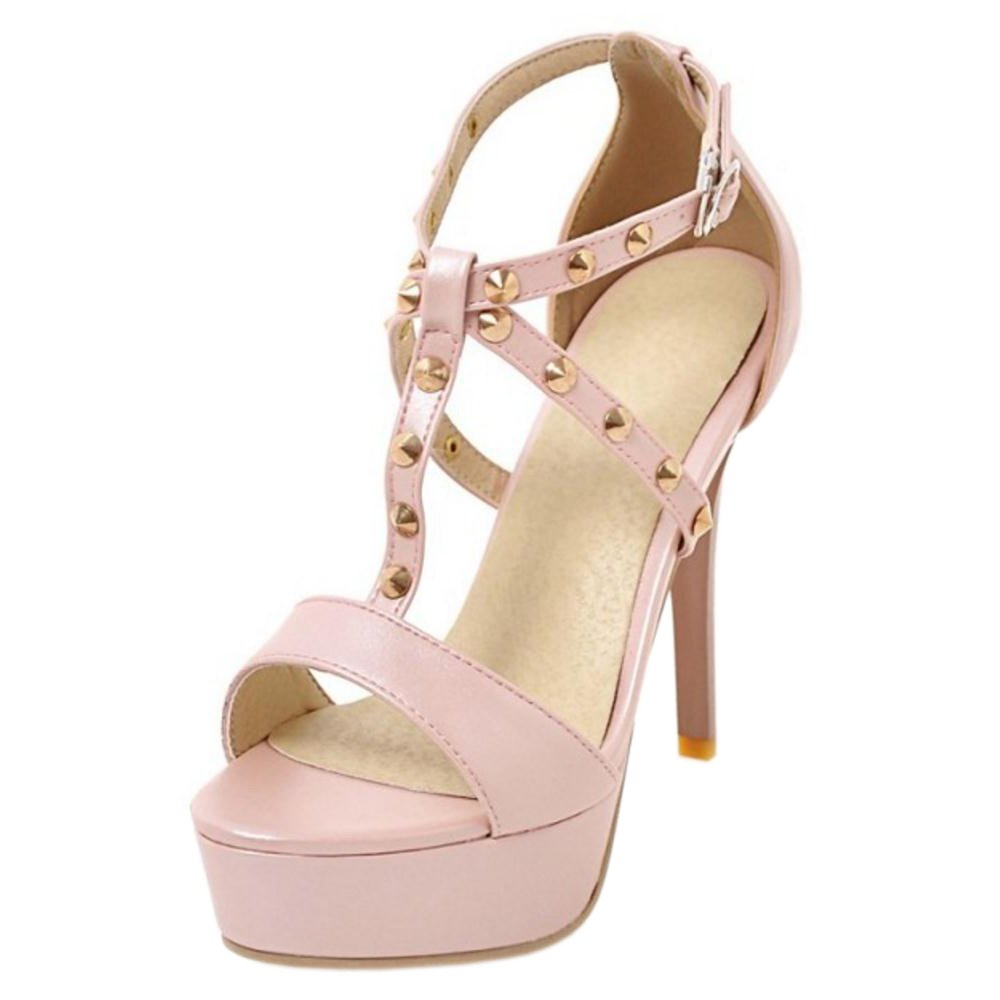AicciAizzi Women Fashion Stiletto Sandals Platform B07BDKJX33 6 US = 23.5 CM|Pink