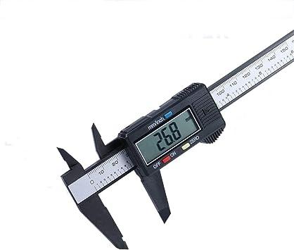 150mm 6inch LCD Digital Gauge Carbon Fiber Vernier Caliper Micrometer Tool