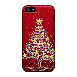 Brand New 5/5s Defender Case For Iphone (colorful Christmas Tree)