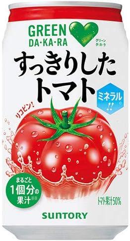 サントリー GREEN DAKARA(グリーン ダカラ) すっきりしたトマト 350g缶×24本入×(2ケース)