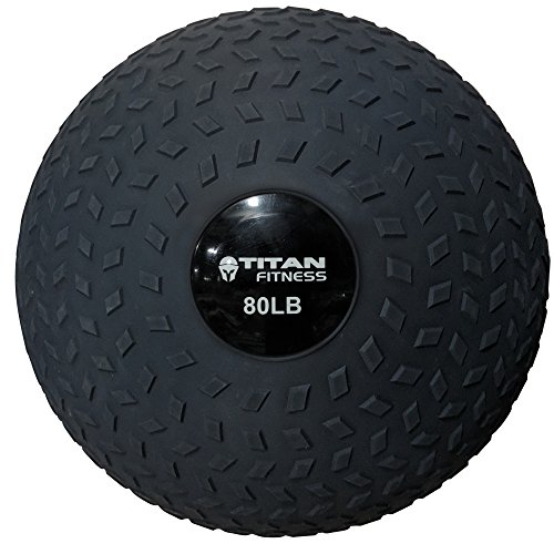 (Titan 80-150 LB Slam Spike Ball Rubber Exercise Weight Workout)