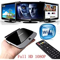 TV Box , Lary Intel Smart TV BOX XBMC Android 4.4 Quad Core 16GB WIFI Mini PC 1080P TV Box Remote P HDMI