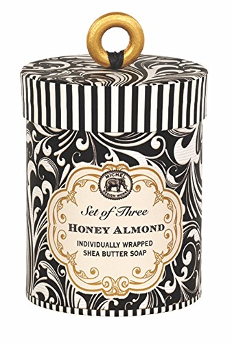 (Michel Design Works 3 Piece Honey Almond Triple Milled Soap Gift Set)
