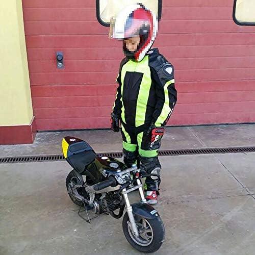 TUTA minimoto Bambino Kid Pelle+Cordura  Protezioni CE BIESSE