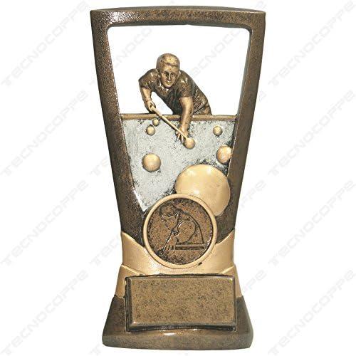 Trofeo Billar/Carambola H 14,00 cm placa personalizada compresa en ...