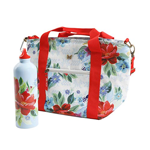 The Pioneer Woman Spring Bouquet Lunch Tote with Hydration Bottle