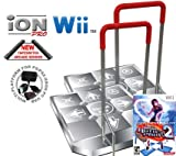 2 x Wii Dance Dance Revolution Limited Edition iON Pro Arcade Metal Dance Pad with Handle Bar + Danc