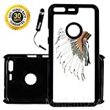 Custom Google Pixel Case (Navajo Indian Headdress) Edge-to-Edge Plastic Black Cover Ultra Slim | Lightweight | Includes Stylus Pen by Innosub