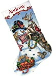 Dimensions Counted Cross Stitch, Gold Collection Snowman Gathering Stocking