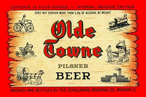 (ArtParisienne Olde Towne Pilsner Beer 24x36-inch Wall)