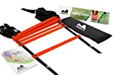 REEHUT Agility Ladder w/FREE USER E-BOOK + CARRY BAG - Speed Training Equipment For High Intensity Footwork (8 Rungs 12 Rungs 20 Rungs)