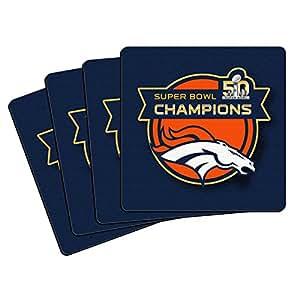 Denver Broncos Super Bowl Champions Drink Coasters by Boelter