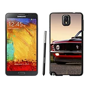 NEW Unique Designed Samsung Galaxy Note 3 Phone Case With Red Ford Mustang Boss 302_Black Phone Case