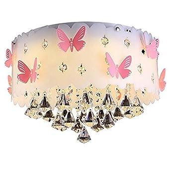 Deckenlampe Kristall Deckenleuchte, Schmetterling Persönlichkeit Warme Schlafzimmer  Lampe Hochzeit Raumbeleuchtung LED Acryl Lampenabdeckung Lampe