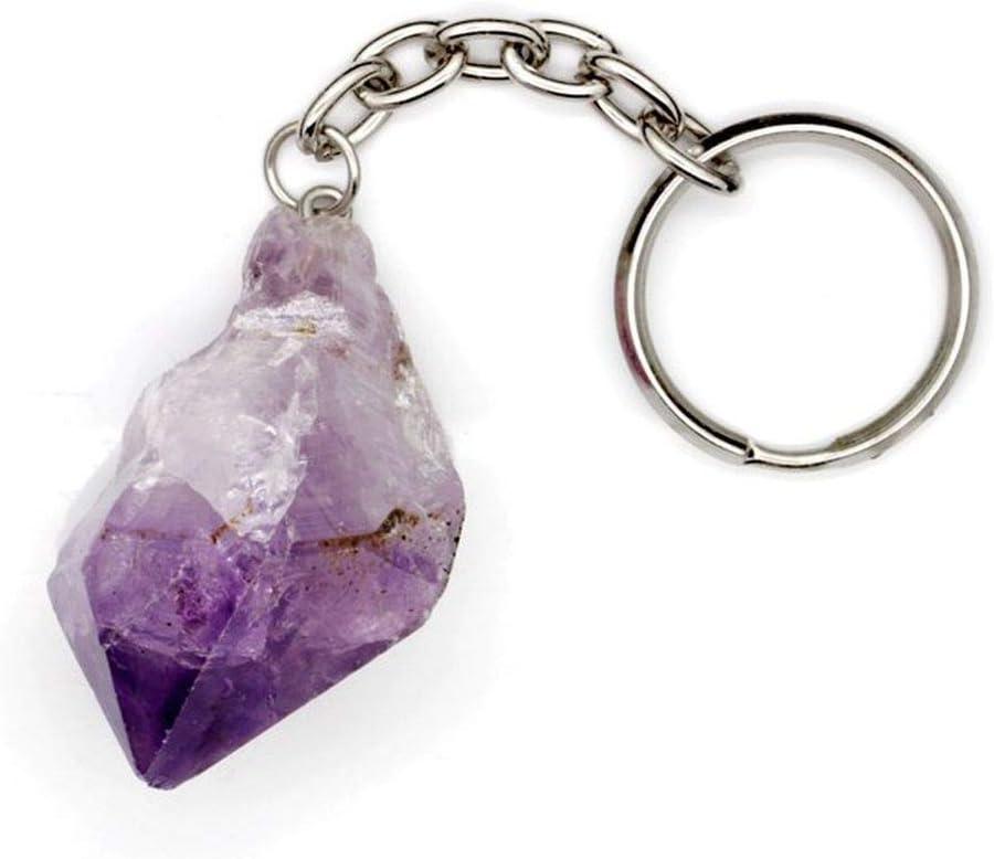 Llavero Cuarzo Amatista en Bruto Minerales y Cristales, Belleza energética, Meditacion, Amuletos Espirituales