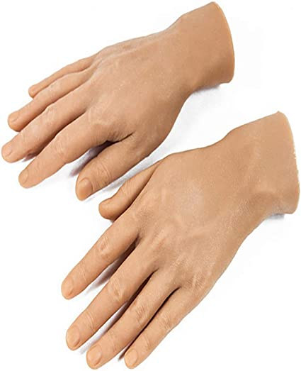 High Quality Realistic Silicone Male Mannequin Hands Left Hand Model Displays