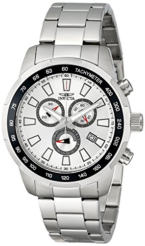 (Invicta Men's 1554 Specialty Chronograph Silver-Tone Dial Stainless Steel Watch)