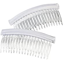Darice VL3036 Long Fabric Edge Comb, White, 4 by 2-Inch, 2 Per Pack