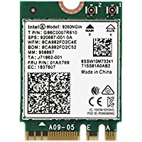fosa 1730Mbps Intel 9260NGW NGFF Wireless Wifi Card, High Speed 2.4G + 5G Dual-Band 802.11ac WiFi Bluetooth 5.0 Module Wireless Card, Support Linux/Chrome/Windows 10 Operate System