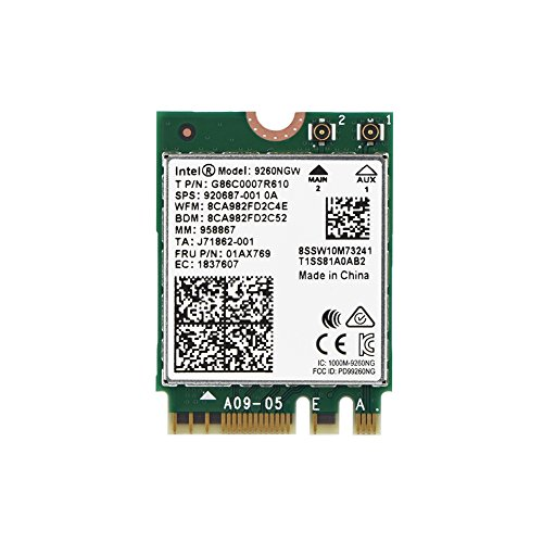 fosa 1730Mbps Intel 9260NGW NGFF Wireless Wifi Card, High Speed 2.4G + 5G Dual-Band 802.11ac WiFi Bluetooth 5.0 Module Wireless Card, Support Linux/Chrome/Windows 10 Operate System by fosa
