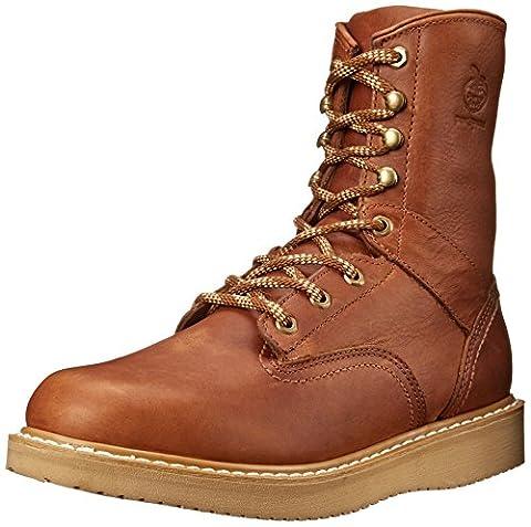Georgia Boot Men's 8 Inch Wedge Work Shoe, Barracuda Gold, 10.5 W US