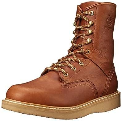 Georgia Men's G8152 Wedge Work Boot, Barracuda Gold, 7 W US
