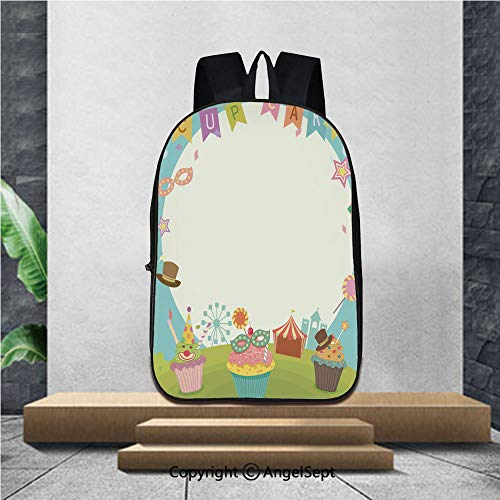School backpack,cupcakes carnival notepad,16.5