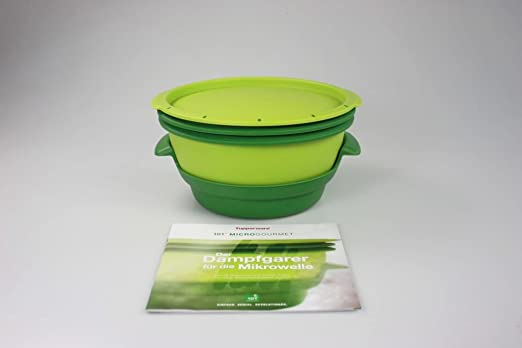 TUPPERWARE Microondas Micro Gourmet verde + rzh la Vaporera ...