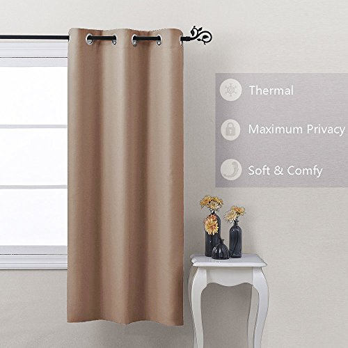 Nicetown Window Treatment Thermal Insulated Solid Grommet Blackout Curtain / Drape for Bedroom (One Panel, 42 by 63 (Drapes Bathroom)