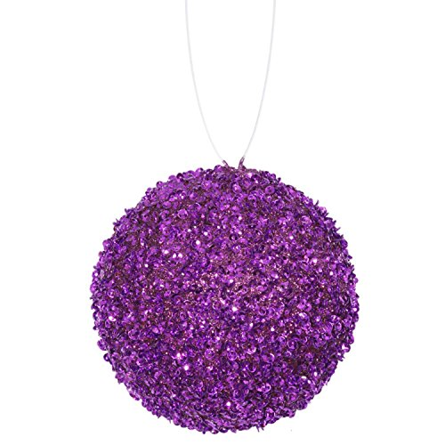 4ct Purple Majesty Sequin and Glitter Drenched Chr by Vickerman
