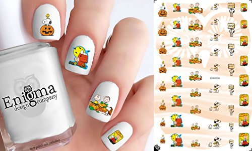 Peanuts Halloween Nail Decals (Set of 50 | Clear Water-slide)