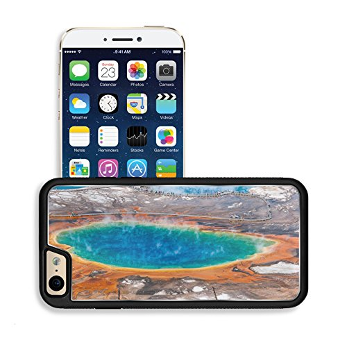 Luxlady Premium Apple iPhone 6 iPhone 6S Aluminum Backplate Bumper Snap Case IMAGE ID 31277423 Aerial view of famous Grand Prismatic Spring in Yellowstone National Park