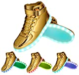 GreatJoy Cool Fun Light Up LED Shoes Sneaker 7 Colors USB Charging
