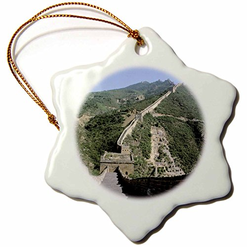 Snowflake China Ornament (3dRose orn_72508_1 Asia, China, Beijing Great Wall and Simatai Mountains AS07 BBA0213 Bill Bachmann Snowflake Ornament, Porcelain, 3-Inch)