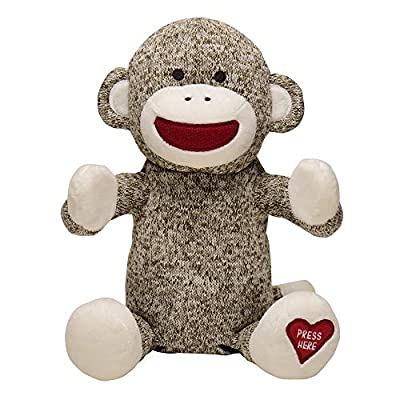 Baby Starters Sock Monkey Baby Toy, Sound and Motion Clapping Hands Toy (Happy and You Know It) : Baby